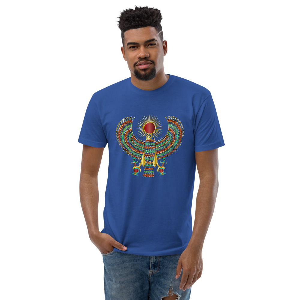 """Heru """"The Falcon"""" Men's Fitted T-Shirt - Next Level 3600"""